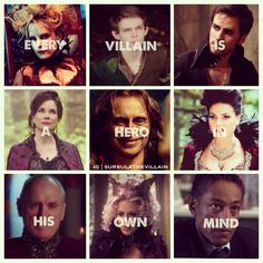Ouat 30 day challenge- Day 15: Good or Evil. I'd have to say evil for 5 reasons- Regina, Hook, Rumplestiltskin, Peter Pan and Meleficent.  Ouat has a great cast of villains.