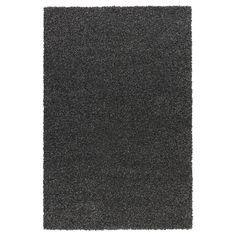 ALHEDE Rug, high pile - black, 160x240 cm - IKEA $199
