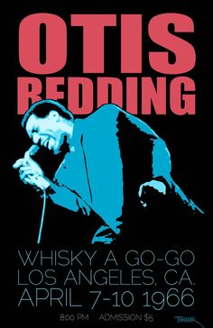 Otis Redding tour poster
