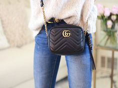 ed16ac5701 Gucci Marmont Mini Gucci Crossbody Bag