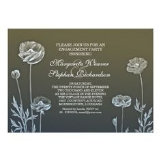 elegant beautiful design engagement invitations