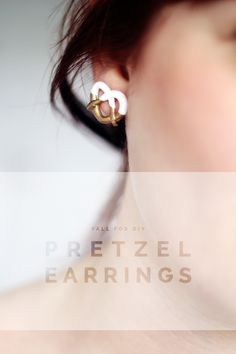 DIY Mark Jacobs inspired Pretzel Earrings