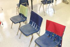 Child at Heart: Homemade Classroom Chair Pockets