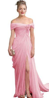 Off Shoulder Red Carpet Dress