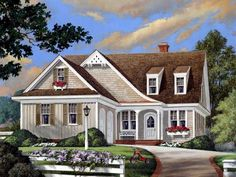 COOL house plans offers a unique variety of professionally designed home plans with floor plans by accredited home designers. Styles include country house plans, colonial, Victorian, European, and ranch. Blueprints for small to luxury home styles. Cottage Floor Plans, Cottage Style House Plans, Country House Plans, Best House Plans, Cottage Homes, Cottage Plan, Farm House, Cottage Design, House Design