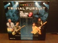 The Rolling Stones Trivial Pursuit Collector's Edition Family Game  #Hasbro