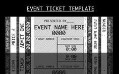 Event Ticket Template by For-Certain