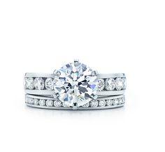the tiffany setting with diamond band tiffany engagement ringstiffany - Tiffanys Wedding Rings