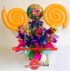 Arreglo de globos pequeño círuclo, Felicidades para dama ó niña, Regalo felicidades lo hiciste, Arreglo de cumpleaños para niña, Detalle para cumpleaños, Centro de mesa, Regalo de dulces disponible en diferentes colores, arreglo de globos monterrey