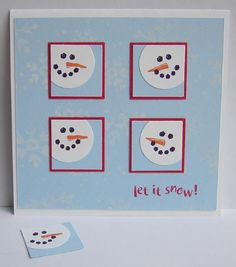 Let it Snow! | Christmas Inchies | @Teresa Blondin Blogs: Cute and simple, my kind of card.Mona