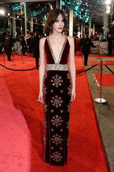 Stacy Martin aux BAFTAs 2016