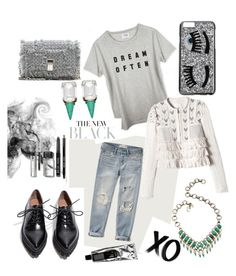 """""""ripped jeans"""" by wick893 on Polyvore featuring Abercrombie & Fitch, xO Design, Rebecca Taylor, Proenza Schouler, Jeffrey Campbell, Chiara Ferragni, Bobbi Brown Cosmetics, Lionette, grey and rippedjeans"""