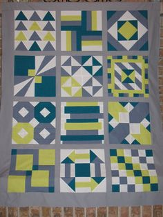 Patchwork Squared Modern Solids Quilt