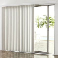 Vertical blinds are now common decorations, especially in bathroom spaces, and have become one of the options for sanitary ware products. Simple vertical blinds can create a fashionable European-style home decoration style, which is not only beautiful in appearance, but also low in price..#smartblinds #smart #blinds #smarthome #smartfashion #decor #homedecor #homeornamentation #smartbedroom #curtains #curtain #curtainsdesign. Patio Windows, Patio Blinds, Outdoor Blinds, Blinds For Windows, Patio Doors, Privacy Blinds, Bamboo Blinds, Kitchen Blinds Vertical, Roller Blinds Kitchen