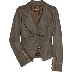 Roberto Cavalli Military wool-felt jacket ❤ liked on Polyvore