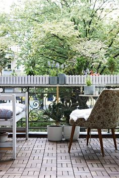 Disguise a concrete floor and fit  tile decking with all the warmth of natural wood #IKEAIDEAS