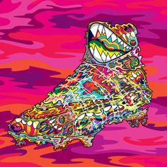 Artist @orcheeze adds his mad style to the #Nike www.cornerstreet.com