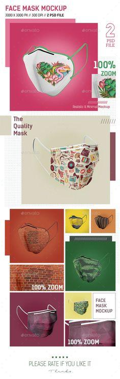 Face Mask Mockup by olimvol | GraphicRiver