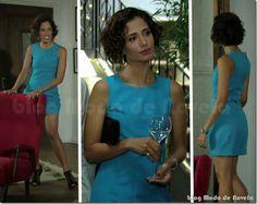 Look inesquecível do dia 21 de março: tubinho azul turquesa da Carol na novela Insensato Coração (2011)