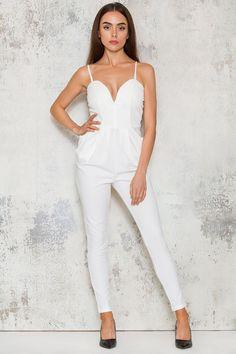 3e73c41471f922 Köp Sheri Jumpsuit - White hos Dennis Maglic