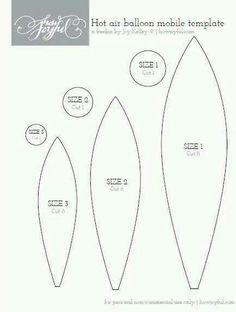pattern for hot air ballon