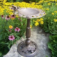 Kenroy Home Outdoor Bird Bath 1 Tier Outdoor Birdbath