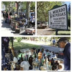 """Mercado de Pulgas (flea market) – Plaza Rocha, in Mar del Plata, Argentina. You can learn a lot about a country by looking for items at a flea market. Plaza Rocha is near the city center of Mar del Plata. There's always something new to see (and by """"new"""" I mean very old). Blue and green siphons, antique books wrapped in plastic, dated farm and kitchen equipment, tea sets and dishes, jewelry, lamps, and dolls. I love looking at all the items, wondering about th"""