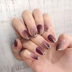 Pin on ネイルデザイン Pin on ネイルデザイン Gem Nails, Aycrlic Nails, Oval Nails, Diamond Nails, Hair And Nails, Cute Nail Art, Cute Nails, Pretty Nails, Sweet 16 Makeup