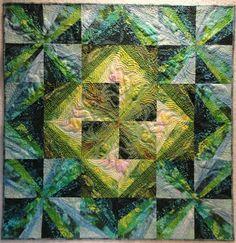 Quilt de Elsi Quilts, los verdes son maravillosos