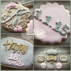 Date Cookies, Monograms, Cookie Decorating, Fonts, Birthday Parties, Sugar, Facebook, Party, Desserts