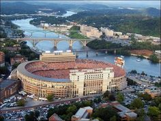 Neyland Stadium The next two stadiums on the list are variously listed and depending on what stats you believe. Whether the capacity is or Neyland Stadium is the home of the University of Tennessee Volunteers football team. Tn Vols Football, Tennessee Volunteers Football, Tennessee Football, University Of Tennessee, Football Stadiums, College Football, Football Season, Football Pics, Oklahoma Sooners