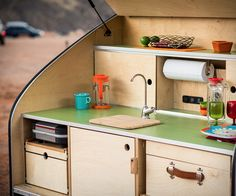Astonishing Teardrop Camper Kitchen Ideas, Used campers are available in all sizes and many serve various purposes. Most used campers have the normal camper mattress. They have plenty of . Teardrop Trailer Interior, Teardrop Camper Trailer, Tiny Camper, Rv Campers, Camper Trailers, Airstream Interior, Vintage Airstream, Travel Trailers, Tiny Trailers
