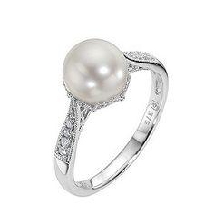 vintage pearl wedding rings - Pearl Wedding Ring