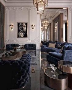 Home Interior, Interior Design Living Room, Living Room Designs, Living Room Decor, Interior Architecture, Living Rooms, Classical Interior Design, French Interior Design, Luxury Interior Design
