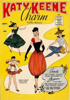 Katy Keene Charm Comic - Love the colors in this vintage style comic