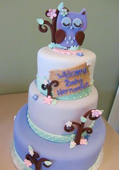 Love this for a little girl's shower. It's not overly pink, either! A nice purple!
