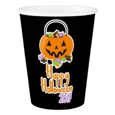 Happy Halloween 2017 Paper Party Cup - halloween decor diy cyo personalize unique party