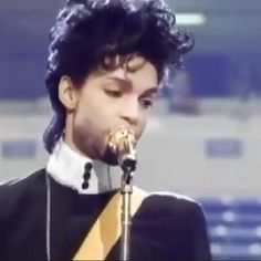 """Prince during """"Diamonds and Pearls"""" live show rehearsals."""