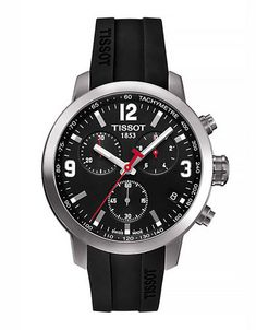 8c3ba7970e59e Buy Tissot T0554171605700 Men s PRC 200 Chronograph Date Leather Strap Watch