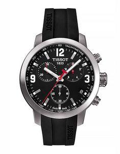 0c78949dcfd0 Buy Tissot T0554171605700 Men s PRC 200 Chronograph Date Leather Strap  Watch