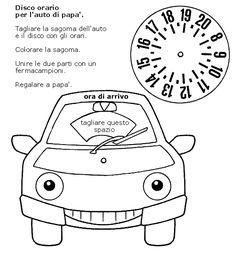 Immagine disco orario (per lavoretti bambini)