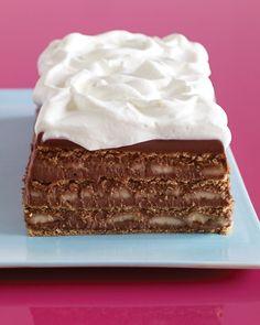 Chocolate, Banana, and Graham Cracker Icebox Cake from Martha Stewart Recipes