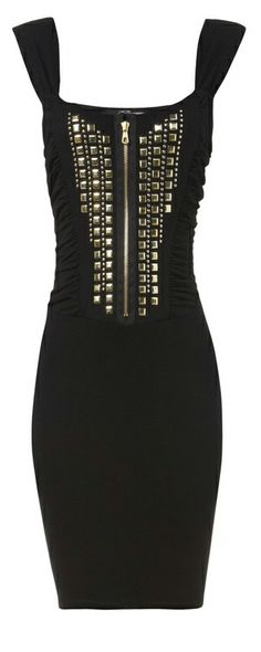 Black studded dress (too young for me but hot none the less)