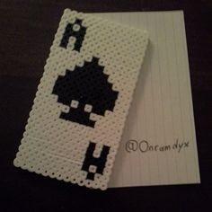Card ace perler beads by onramdyx