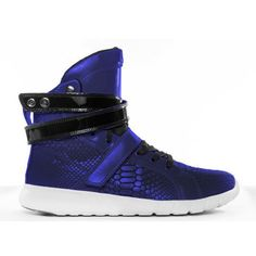 75aa75c5b043 Blue Anaconda Super Trainer Hightop Bodybuilding Sneaker Heavy Weights