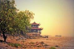 Yangtze Ufer Teehaus