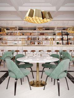Architecture Restaurant, Luxury Restaurant, Restaurant Interior Design, Commercial Interior Design, Cafe Interior, Commercial Interiors, Restaurant Restaurant, Restaurant Concept, Architecture Design