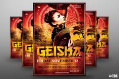 "Check out my @Behance project: ""Geisha Night Flyer Template V3"" https://www.behance.net/gallery/26766861/Geisha-Night-Flyer-Template-V3"