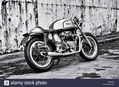 Triton Café Racer Motorcycle. Triumph / Norton Motorbike. Classic Stock Photo, Royalty Free Image: 88988388 - Alamy