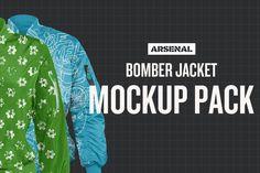 Bomber Jacket Mockup Templates  @creativework247
